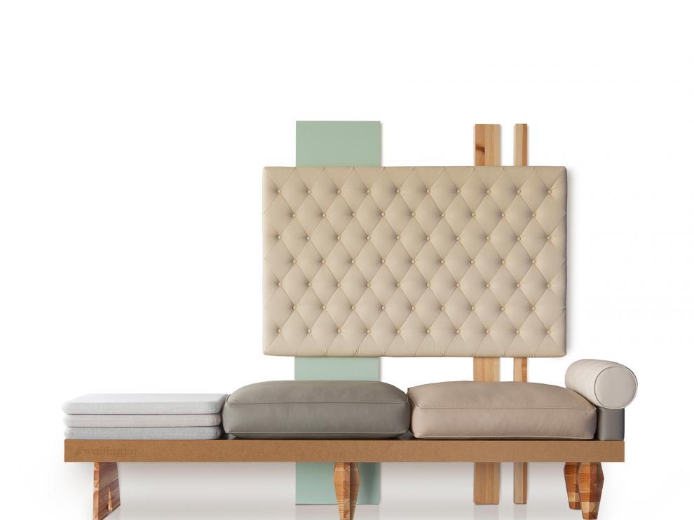 Sofás diseñados por Maurizio Bernabei.