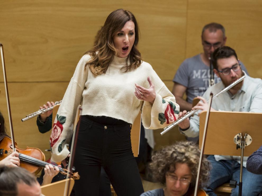 La mezzosoprano croata Irena Parlov, protagonista de la 'Carmen', que se verá en Zaragoza.