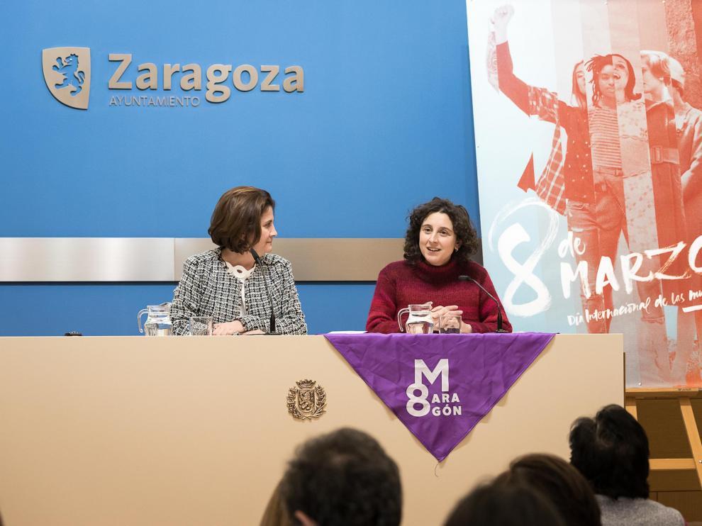 Arantza Gracia convocó ayer a los medios para informar de que todo el gobierno de ZEC secundará la huelga.