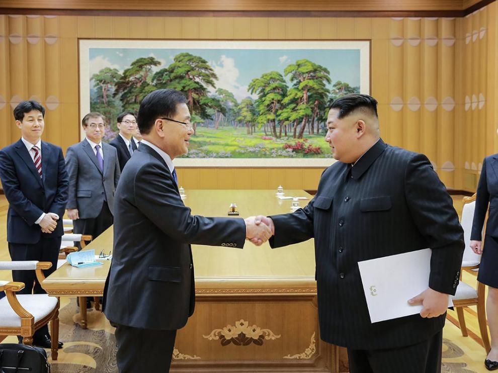 Los líderes de Corea del Sur y Corea del Norte.