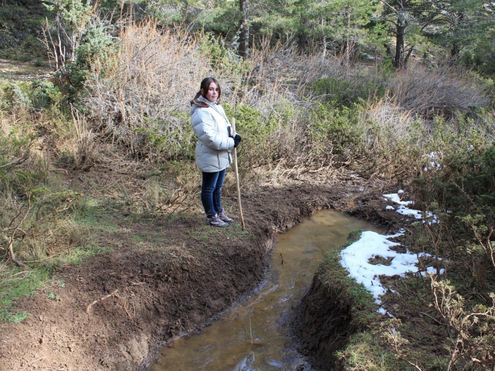 La fuente del barranco de la Melchora, en el término de Villar del Cobo