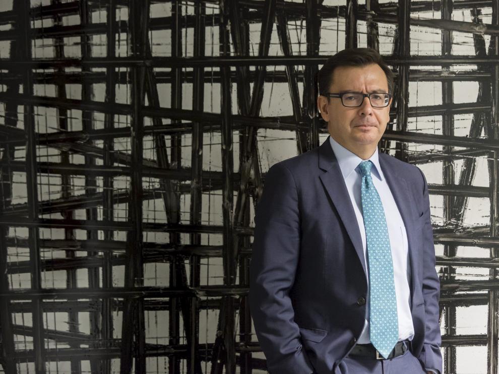 Ramón Escolano, en una de sus visitas a Zaragoza como vicepresidente del BEI