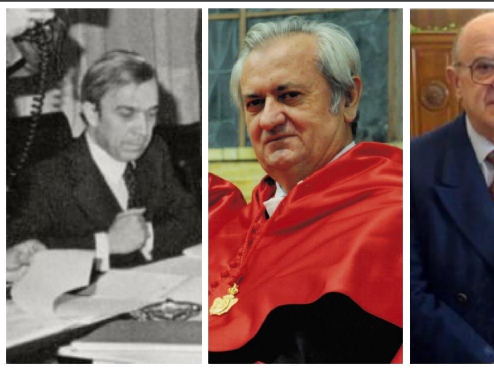 Jaime García Añoveros, Luis Manuel Cosculluela Montaner, Sebastián Martín-Retortillo, Juan Alberto Belloch y Román Escolano