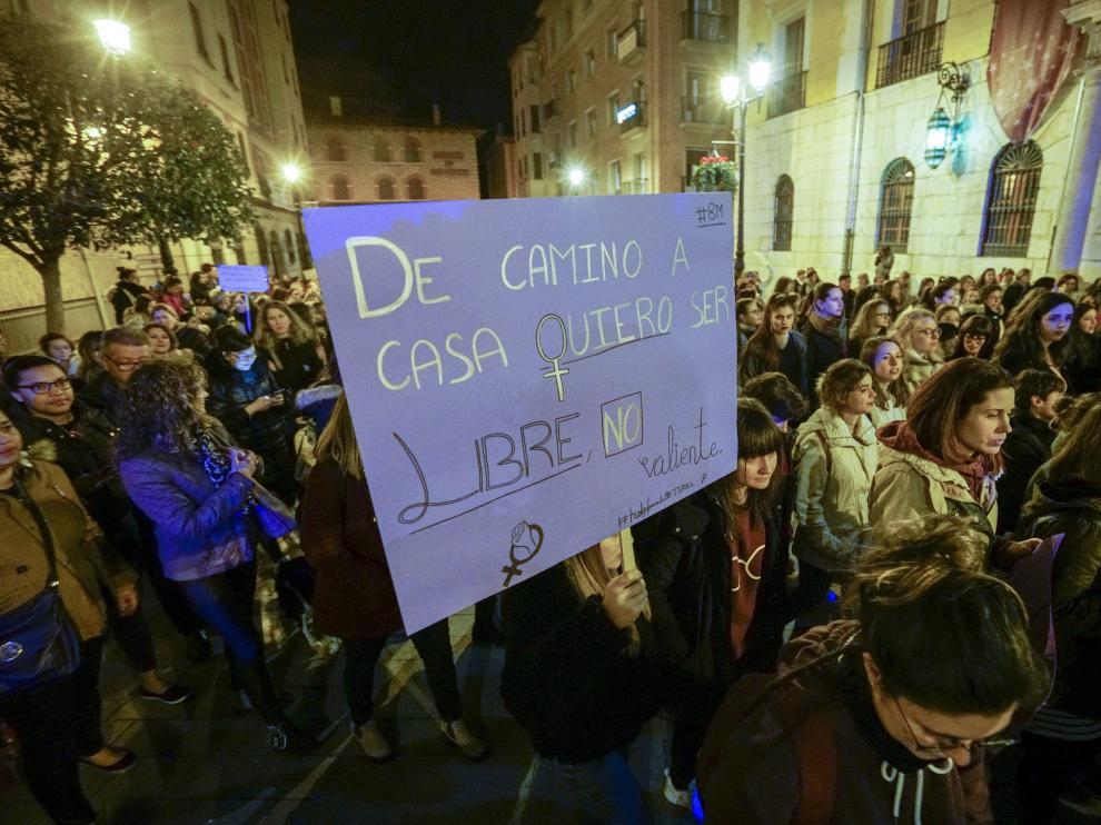 La plaza de San Juan, en la foto, se llenó de manifestantes