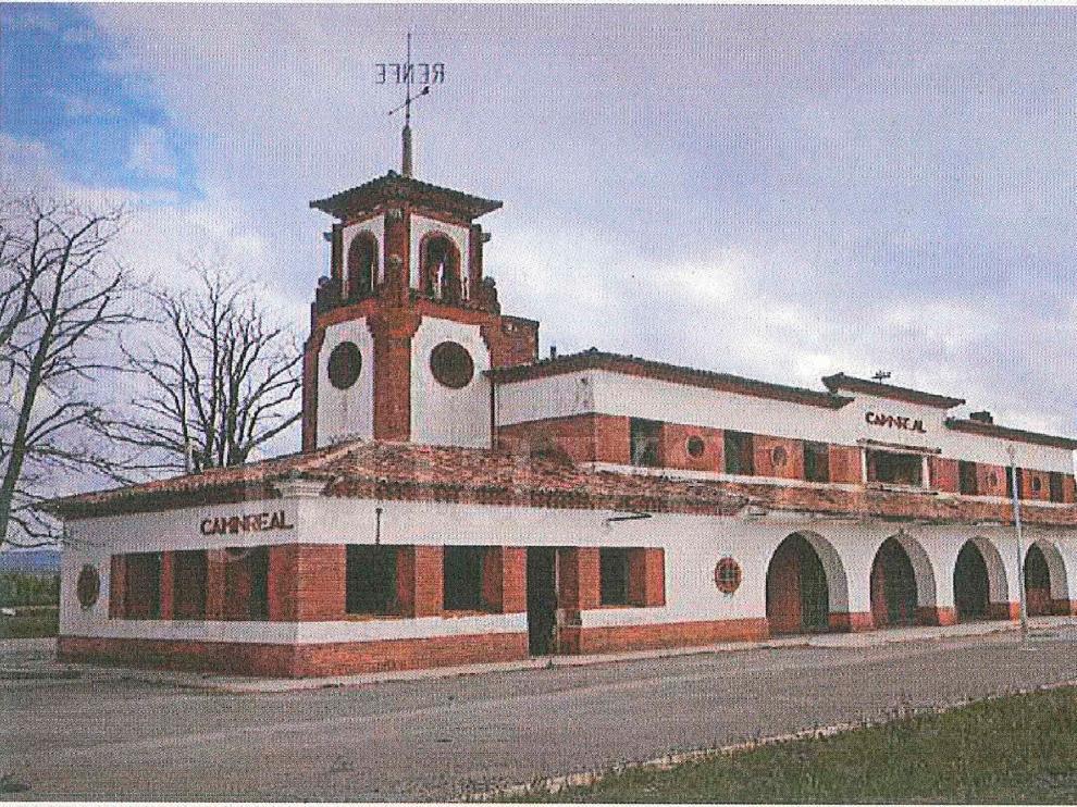 Estación de Caminreal (Teruel), que está abandonada.