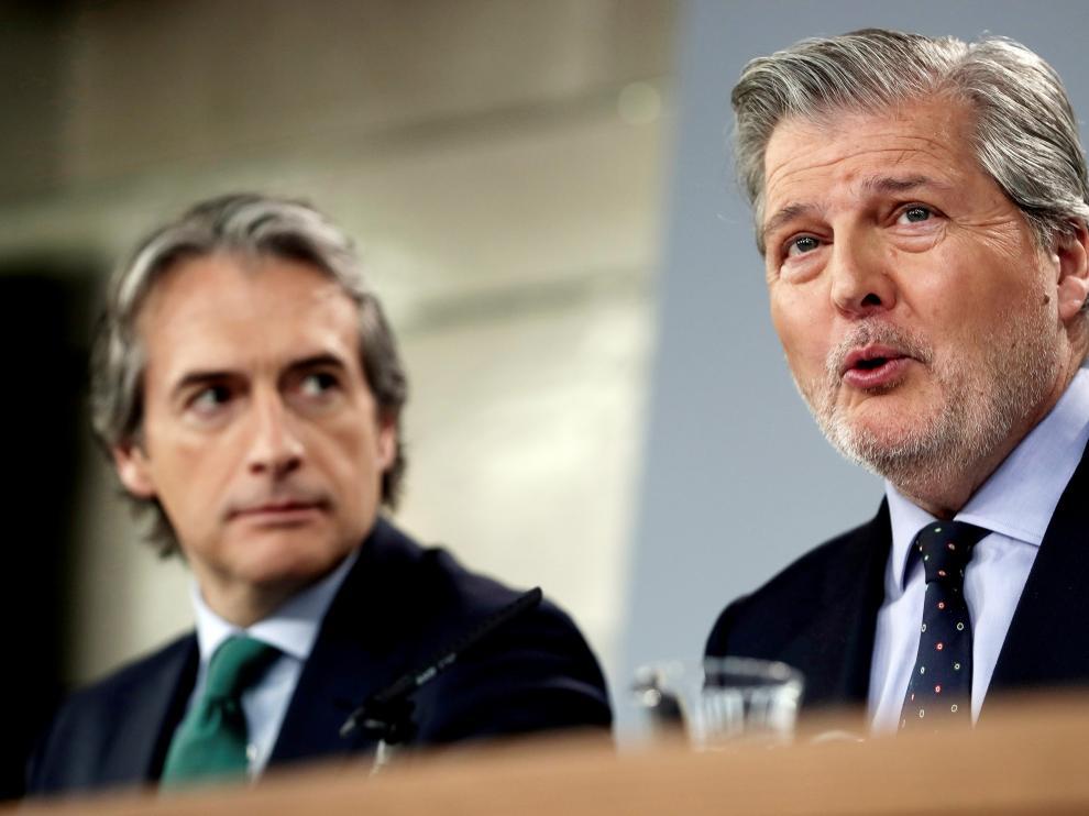 Méndez de Vigo en la rueda de prensa de este viernes.