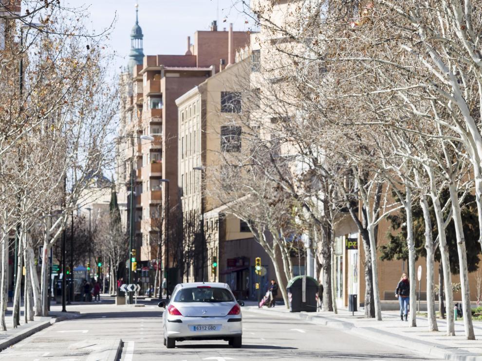 Avenida de Cataluña.