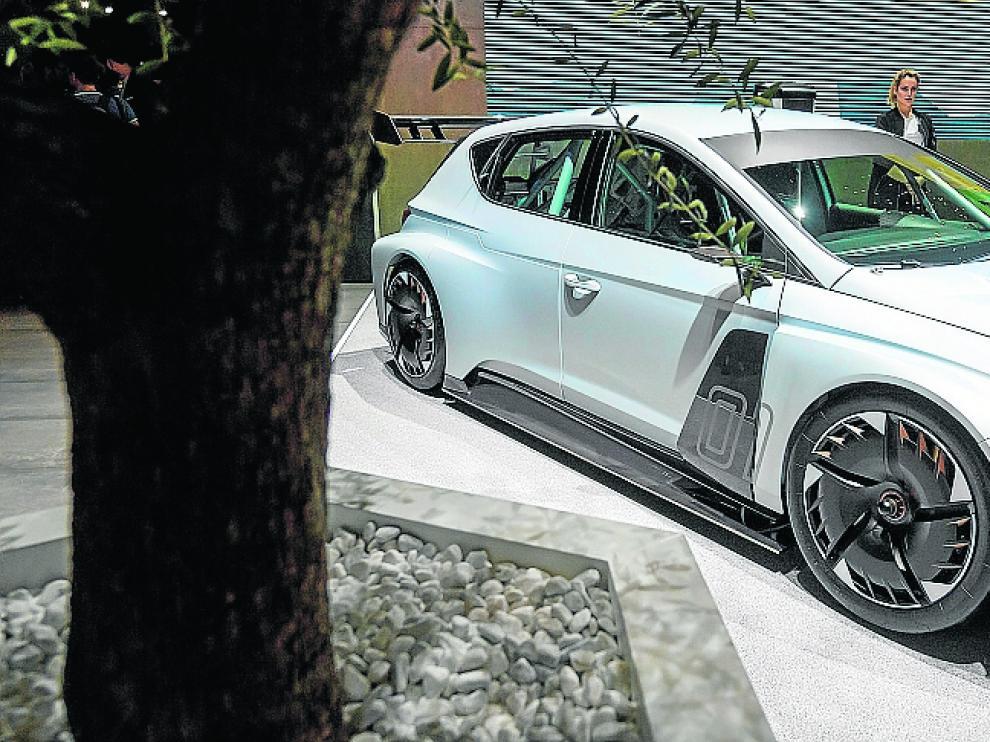 Coche eléctrico de la nueva marca de Seat, el Cupra e-Racer.