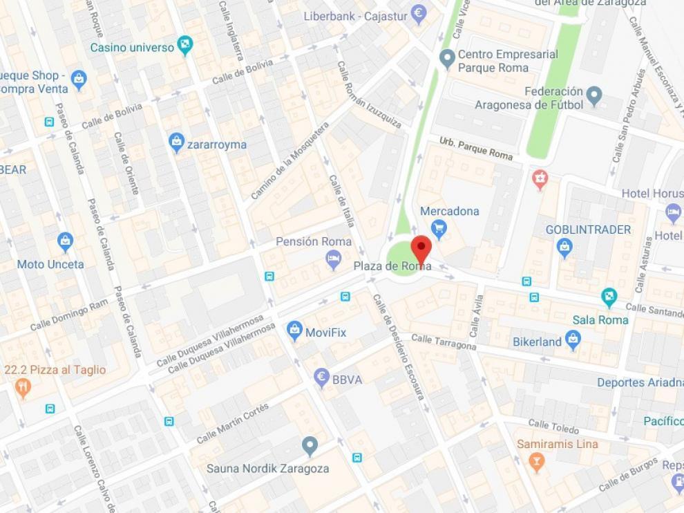 La detención ha sido en Duquesa de Villahermosa a la altura de Plaza Roma.