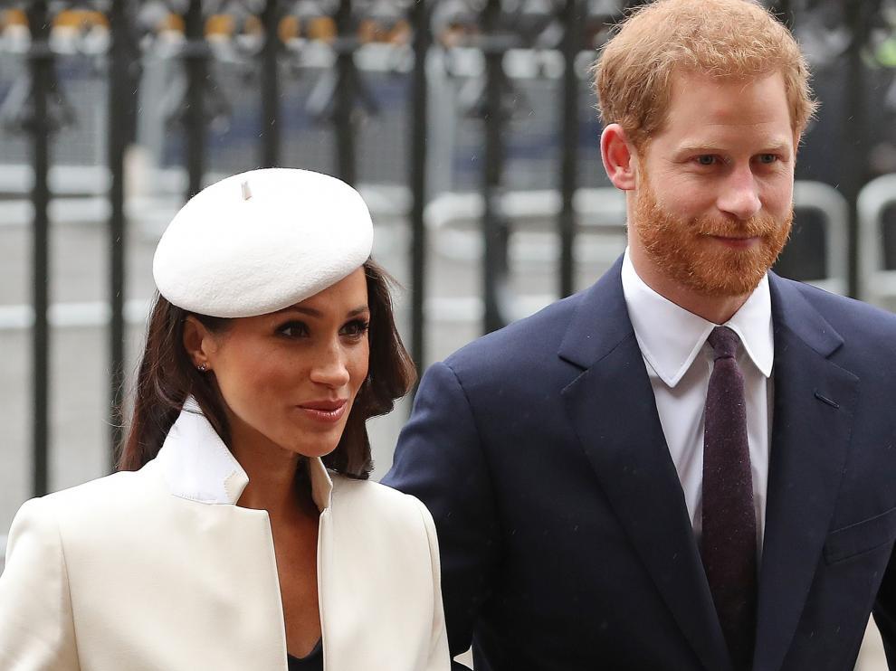 Meghan Markle y el príncipe Harry, en el Día de la Commonwealth