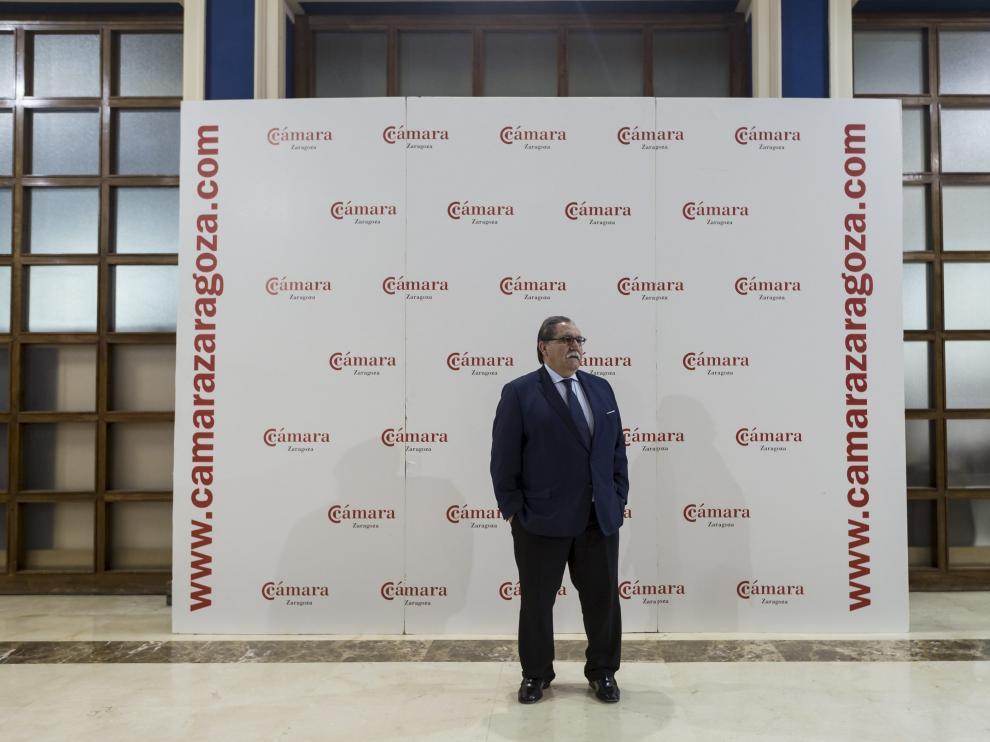 Manuel Teruel es por ahora el único candidato a presidir la Cámara de Comercio de Zaragoza