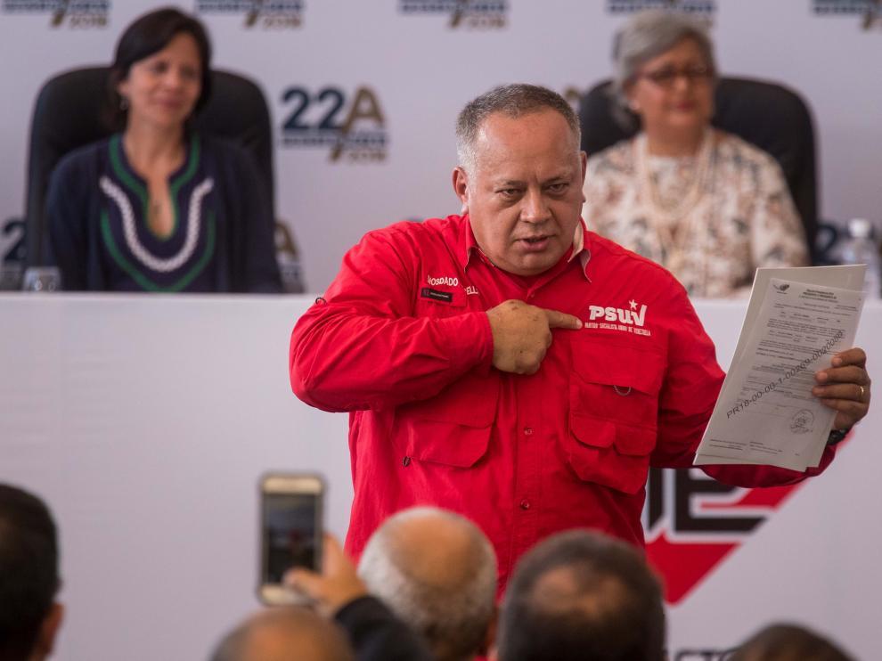 Diosdado Cabello, primer vicepresidente del Partido Socialista Unido de Venezuela.