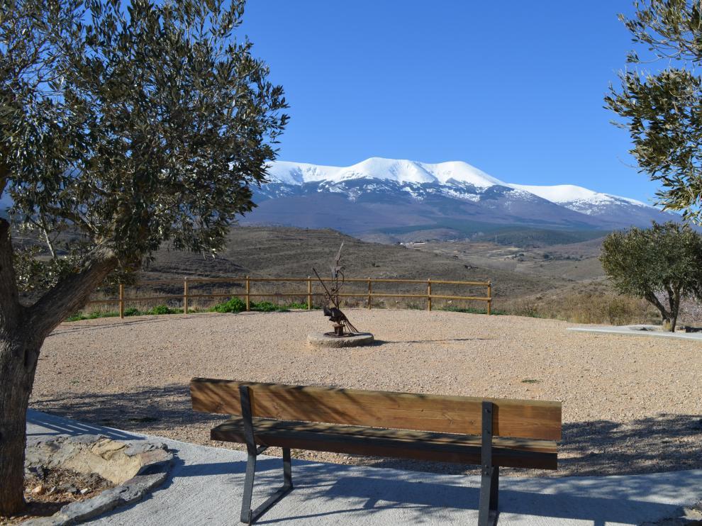 Desde el mirador hay unas vistas privilegiadas de Moncayo