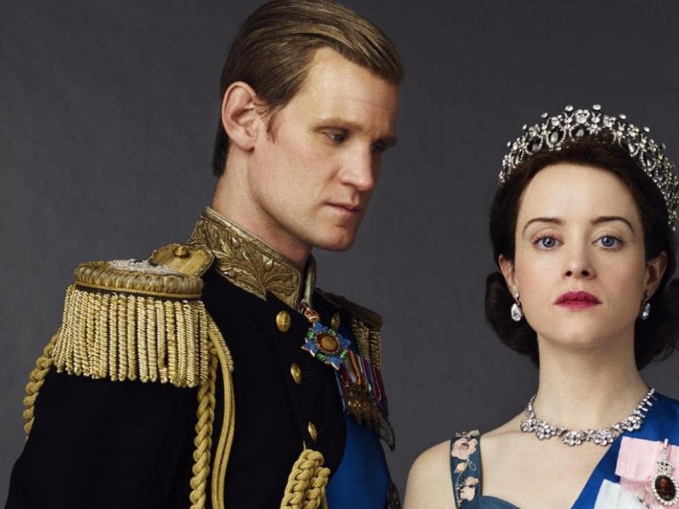 Smith y Foley, en sus papeles de Felipe de Edimburgo e Isabel II.