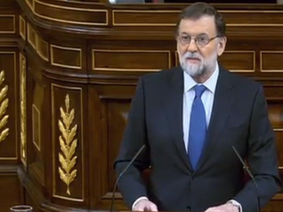 Rajoy durante su intervención