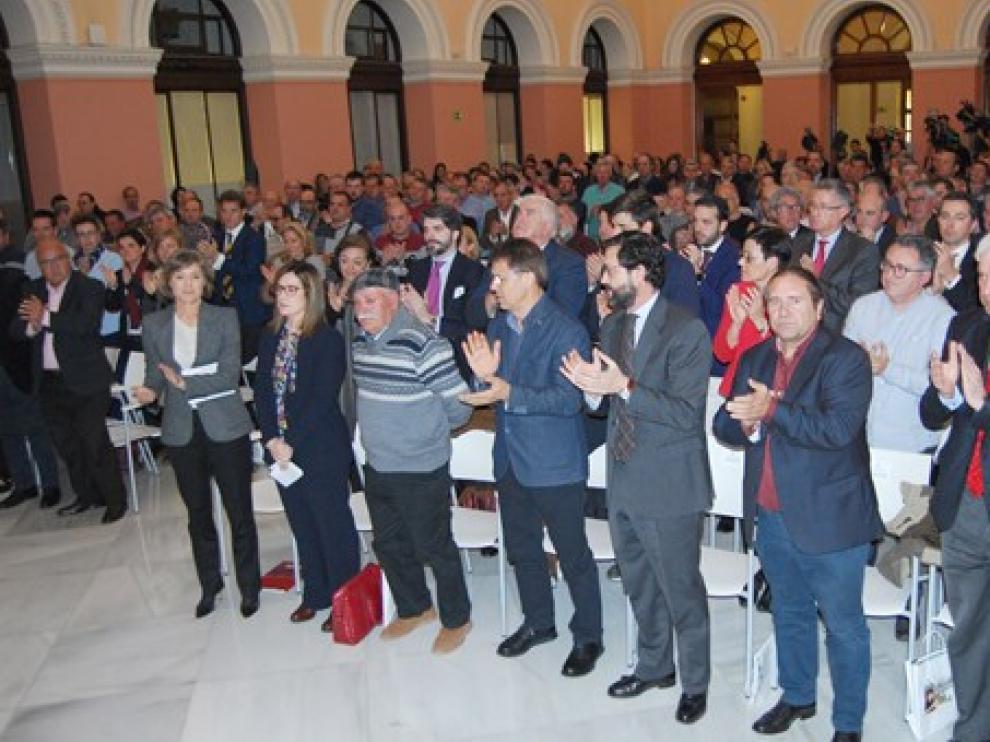 Acto de homenaje a Iranzo celebrado esta mañana en Madrid.