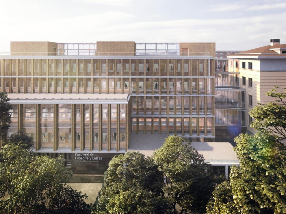 Recreación de la nueva Facultad de Filosofía y Letras