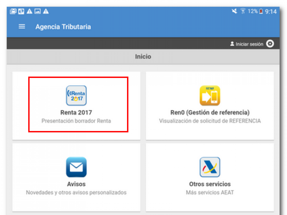Nueva aplicación móvil de la Agencia Tributaria para la campaña de la Renta.