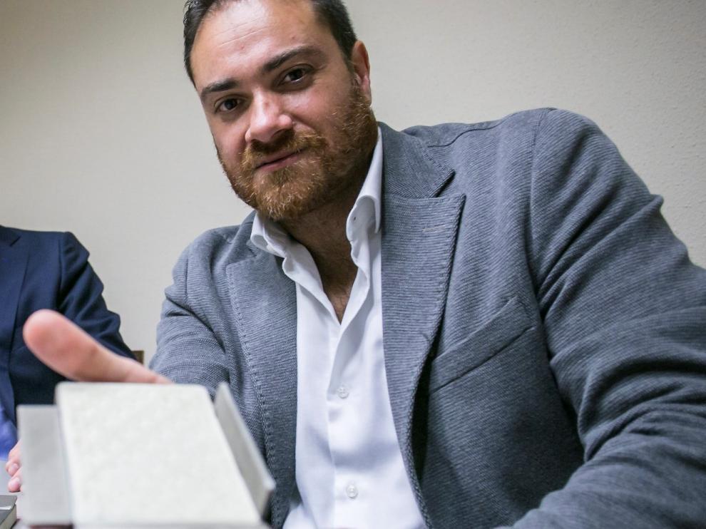 Alberto Sánchez presentando en 2014 el innovador producto que ahora está a punto de ser comercializado