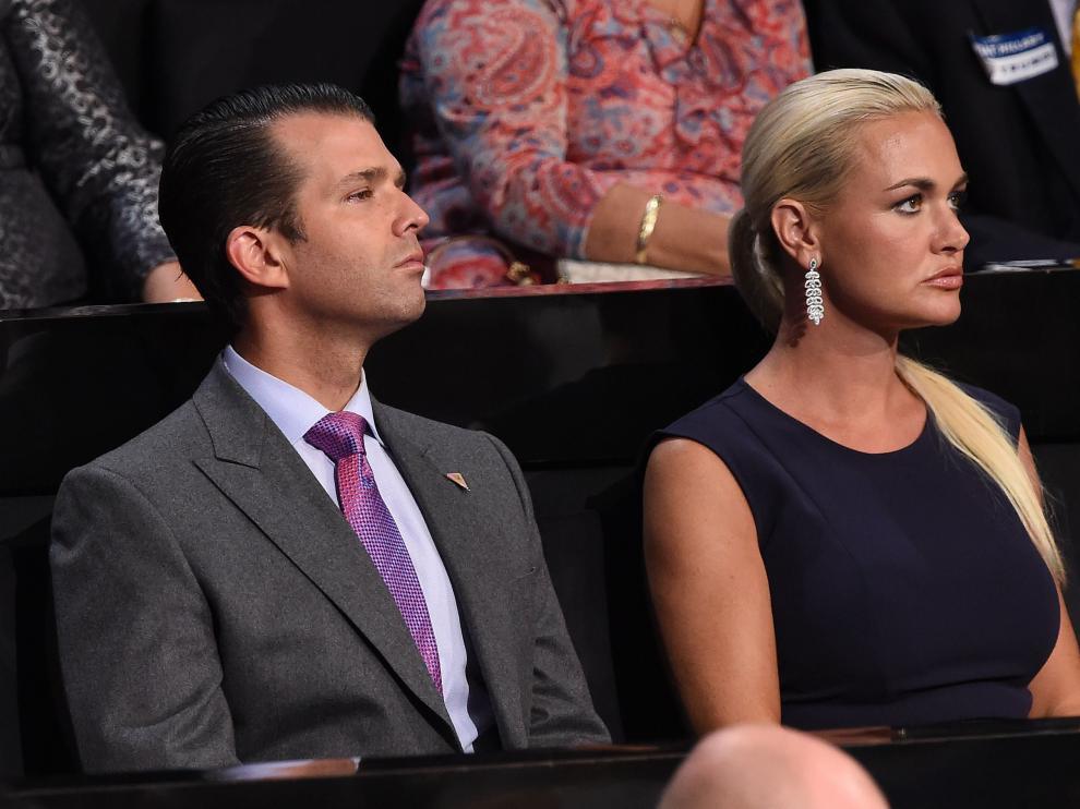 Donald Trump hijo y su mujer, Vanessa Trump, en una imagen de archivo.
