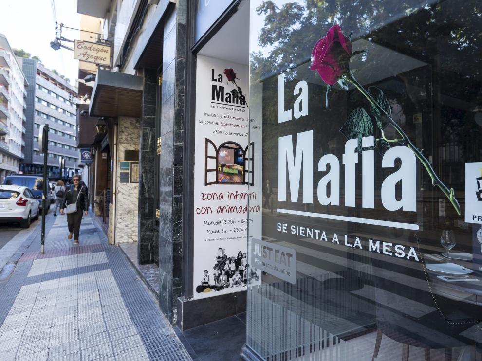 Fachada de un restaurante de La Mafia en Zaragoza