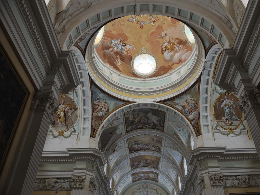 Imagen de los frescos de la Cartuja