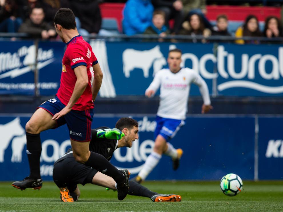 Victoria del Real Zaragoza ante Osasuna en el Sadar