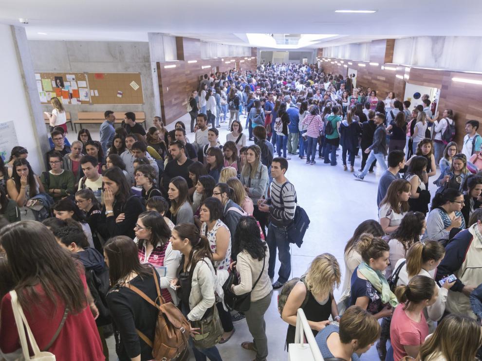 Oposiciones a maestros celebradas en 2016 en la Facultad de la Educación de Zaragoza