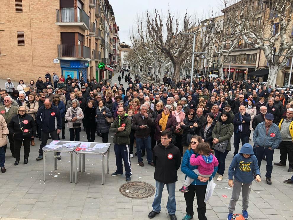Manifestación en Barbastro en defensa de las pensiones.
