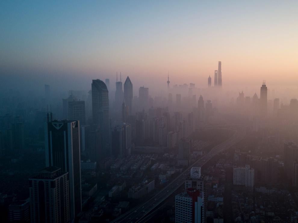 Contaminación en la ciudad china de Shanghai.