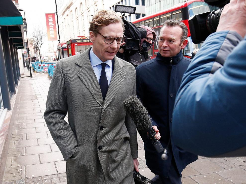 Alexander Nix a su llegada a las oficinas de Cambridge Analytica en Londres.