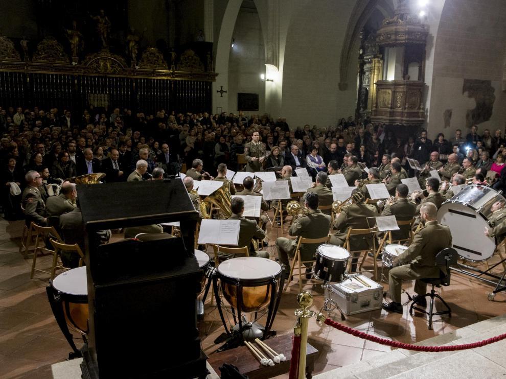 Un momento del concierto, anoche, en el interior de la iglesia de San Pablo.
