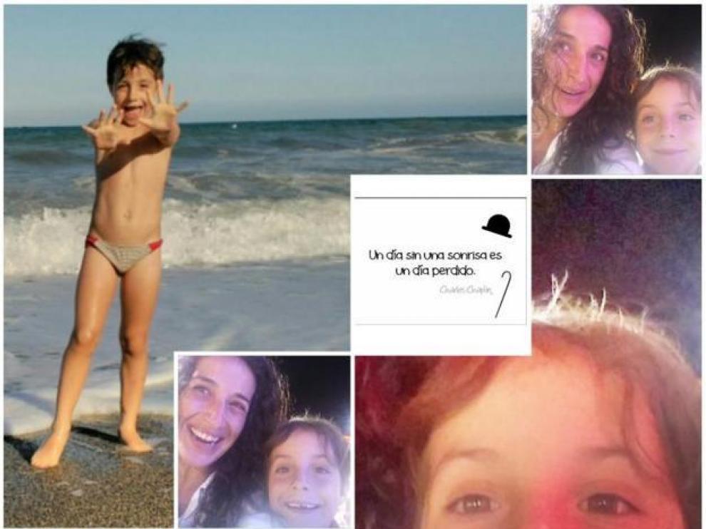 El collage de imágenes de Gabriel que los padres han hecho público este jueves