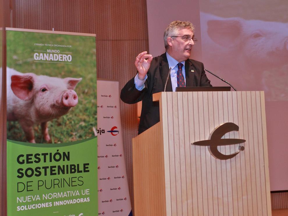El consejero de Desarrollo Rural, Joaquín Olona, clausuró la jornada celebrada en Zaragoza
