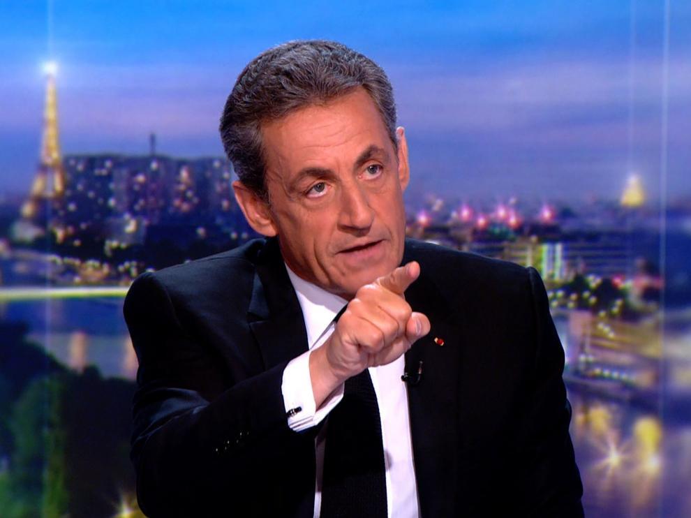 Nicolas Sarkozy en su intervención en la televisión francesa.