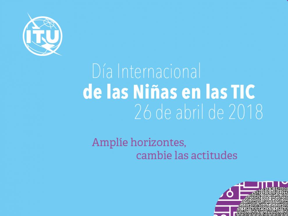 Imagen promocional del Día Internacional de las Niñas en las TIC.