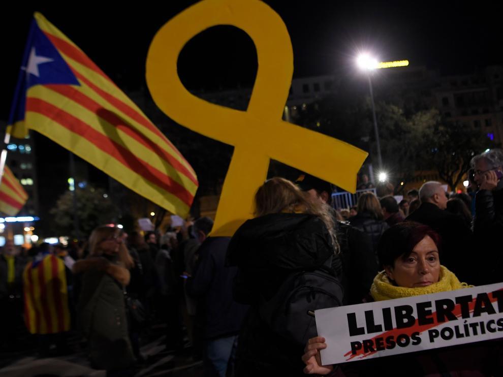 Protestas en Barcelona por el auto de prisión de Turull