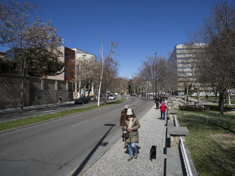 La calle de Asalto, entre la Magdalena y el parque Bruil