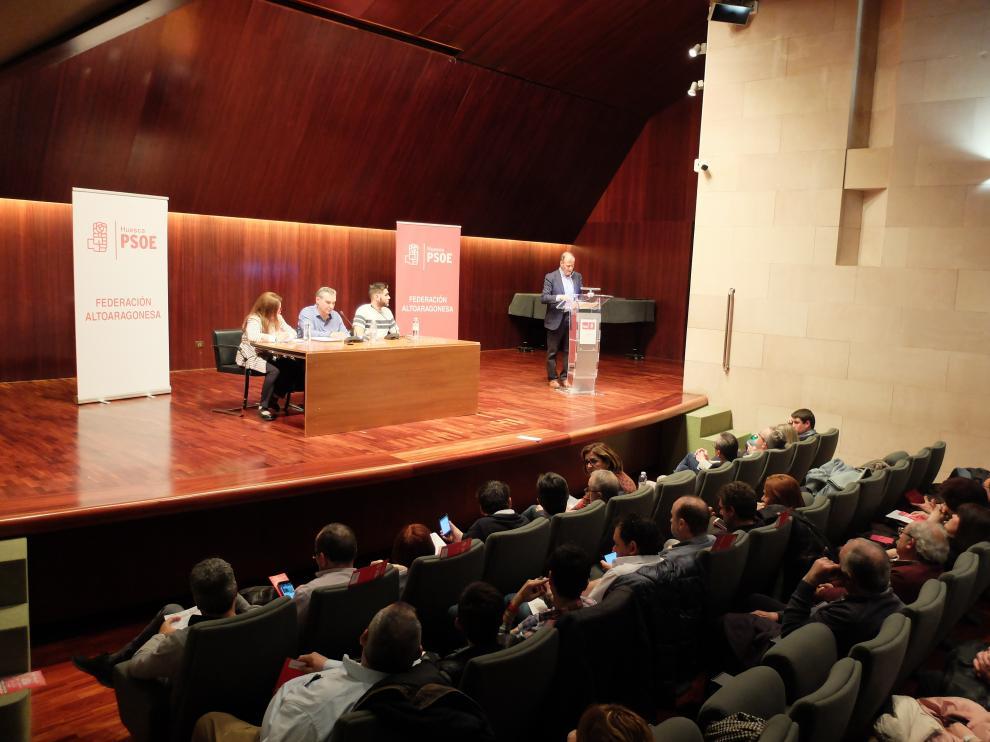 Más de 150 socialistas han acudido al comité celebrado en el salón de actos de la DPH