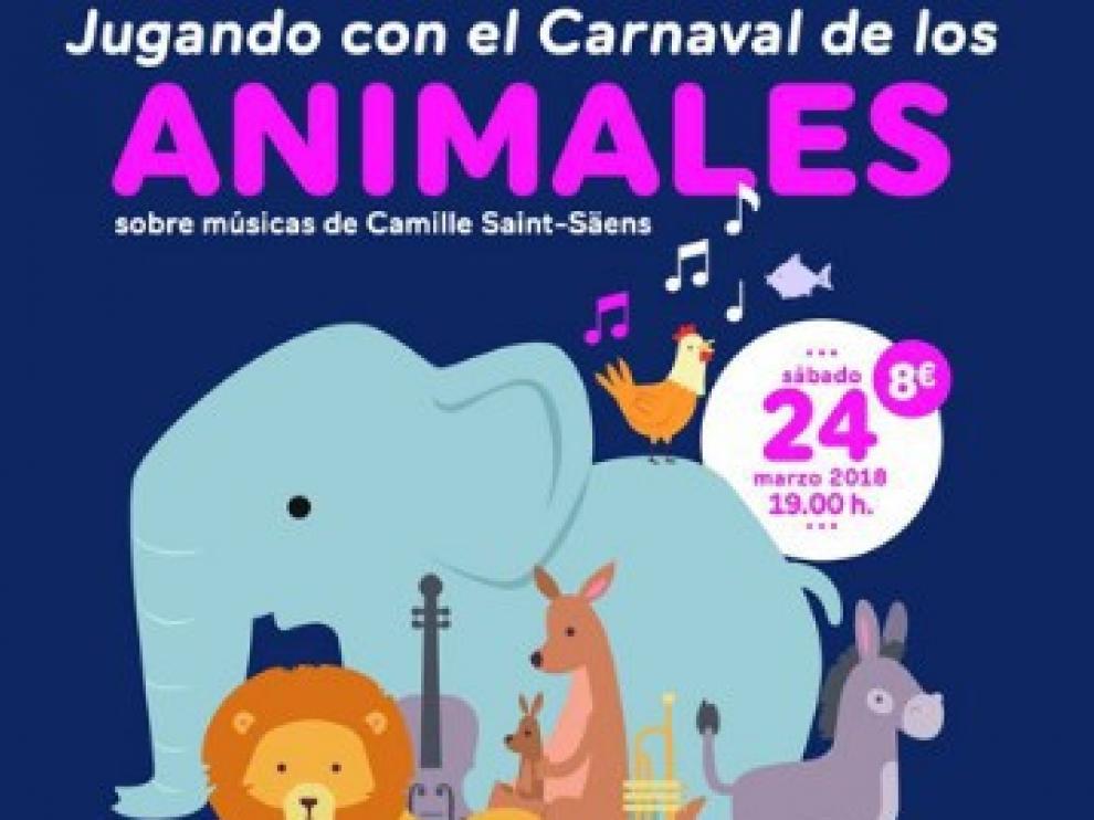 Cartel del concierto 'Jugando con el carnaval de los animales'.