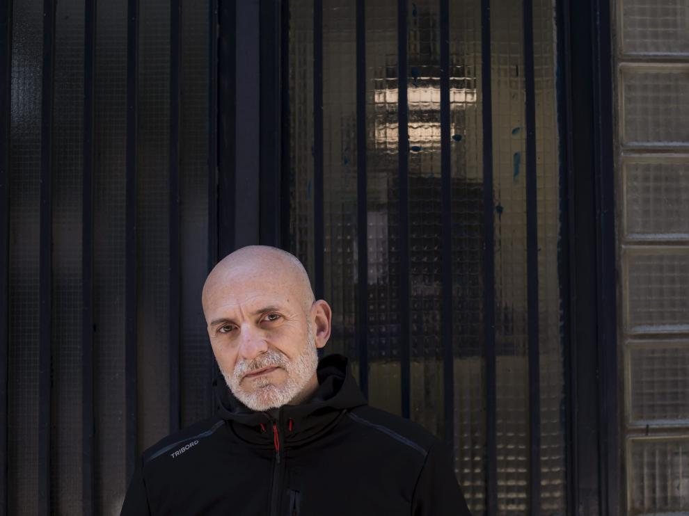 El escritor Alejandro Palomas, en su visita a Zaragoza, el pasado jueves.