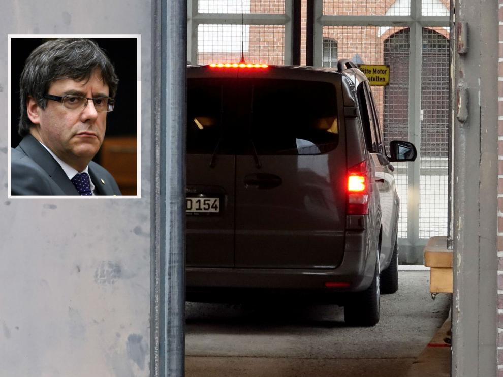 Puigdemont fue trasladado a una cárcel de la localidad de Neumünster