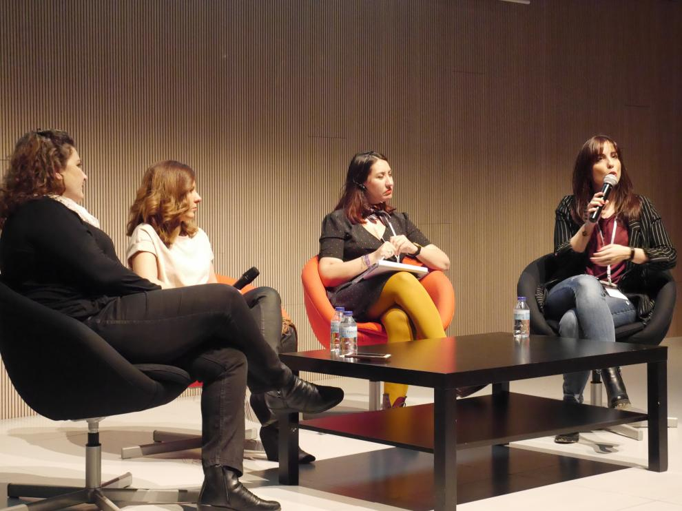 Mesa redonda de bloggers aragonesas.