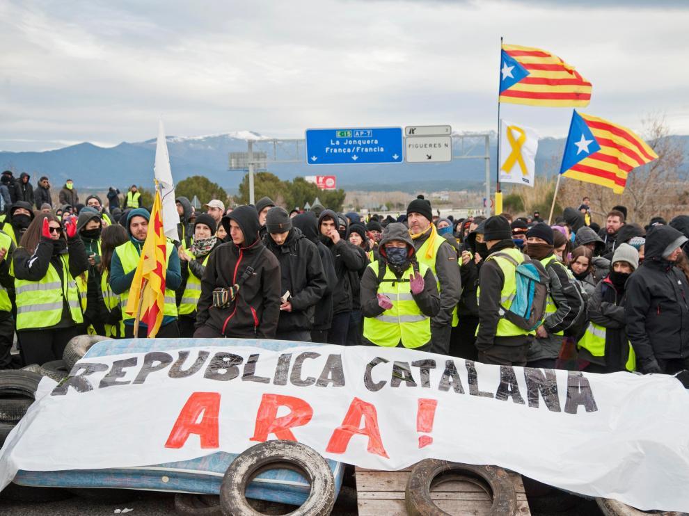 Foto de archivo de una protesta independentista en Cataluña