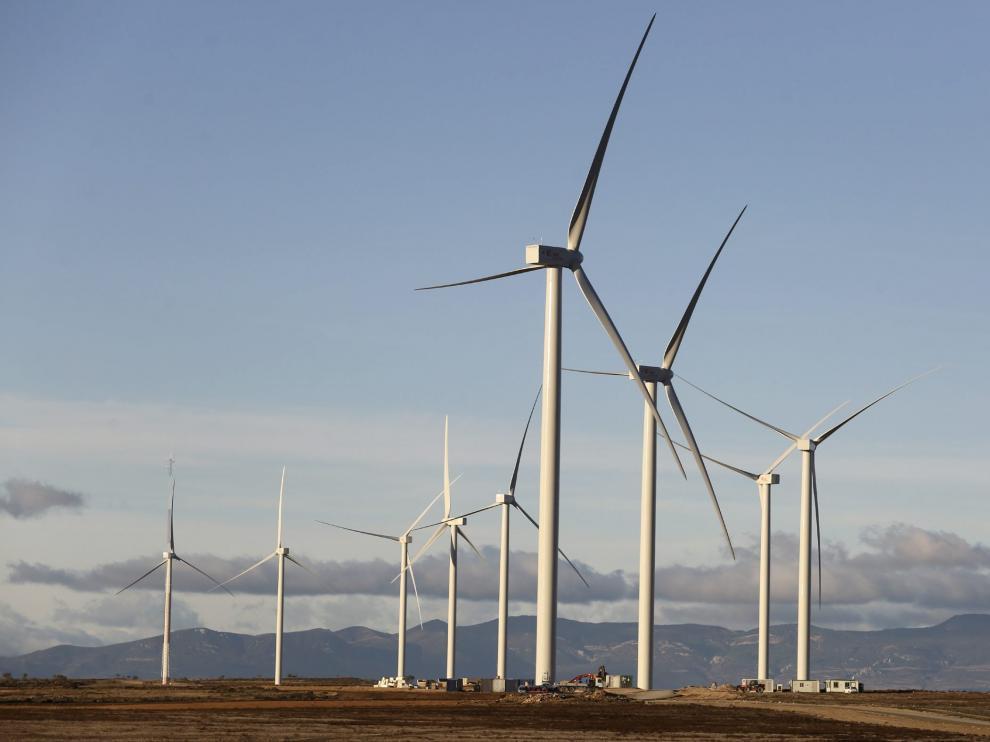 Imagen de archivo del parque eólico de Gurrea de Gállego.