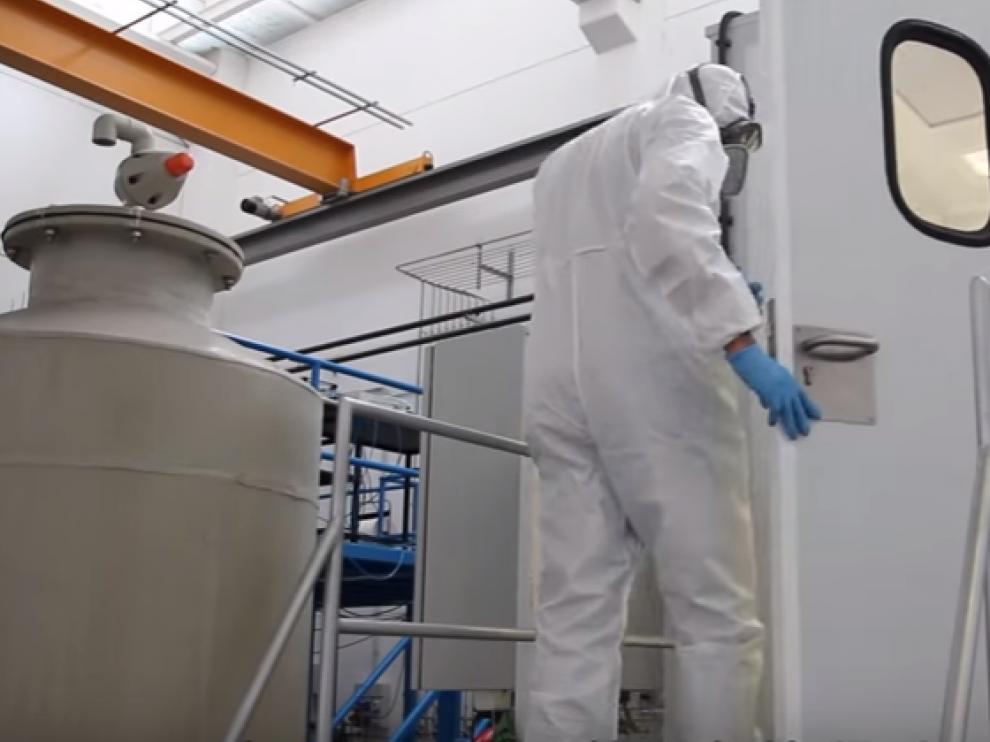 El INA observa en su cámara estanca hasta dónde se esparcen las nanopartículas diseñadas