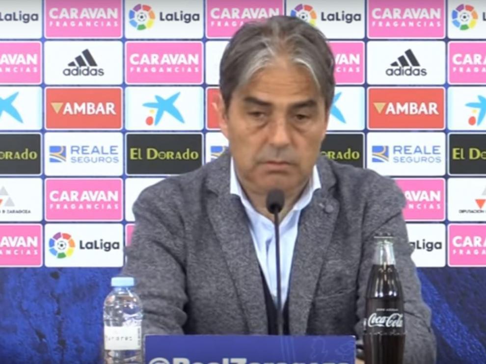 Natxo González en una rueda de prensa.