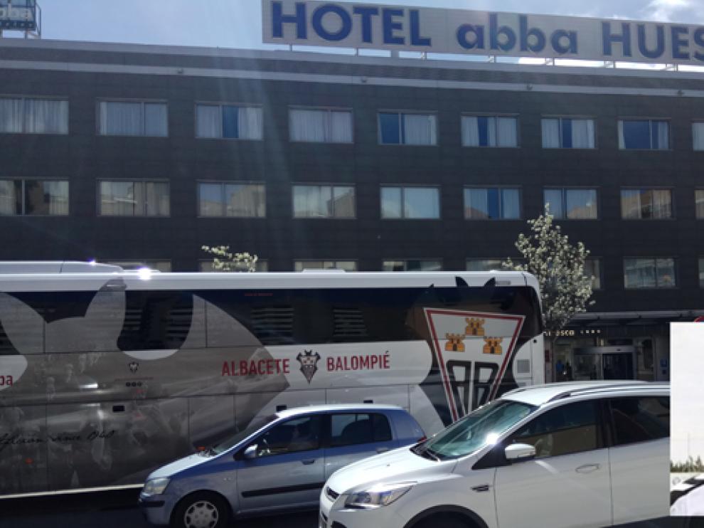 El siniestro se ha producido esta mañana, cuando el jugador ha sufrido una caída desde el tercer piso del Hotel Abba.
