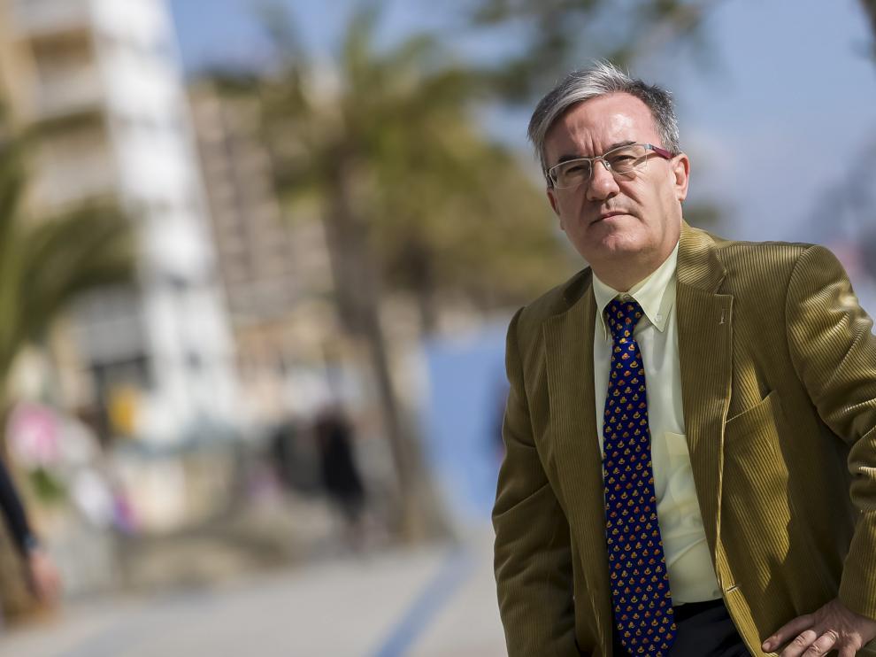 El juez Ángel Dolado, este jueves, en la playa.