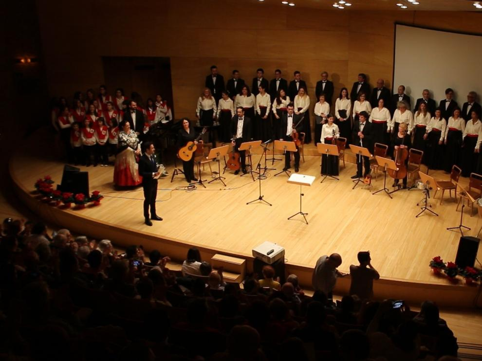 Gala de celebración del 25 aniversario de la escuela en el Auditorio de Zaragoza